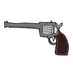 comic cartoon gun vector image