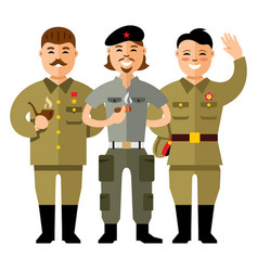 communist group flat style colorful vector image