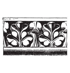 cornice molding from notre dame paris ledge vector image