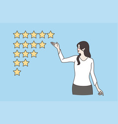 customer review client feedback concept vector image