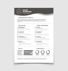 cv resume document for employment interview vector image