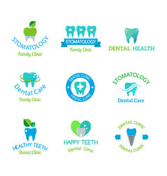 Dental stomatology clinic badge icon vector