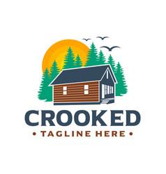 design logo guest house green vector image