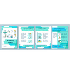 Disability causes brochure template vector