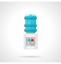 Electric water cooler flat icon vector image