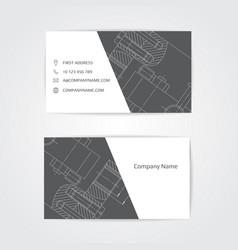 engineering business card engineering drawings vector image