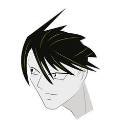 Face man anime vector