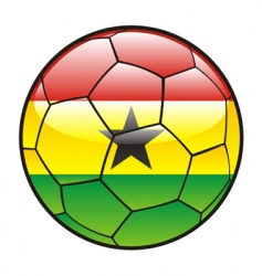 flag of Ghana on soccer ball vector image