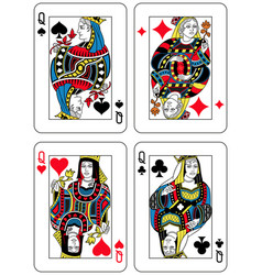four queens french inspiration vector image