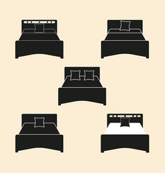 furniture bed silhouette icon vector image