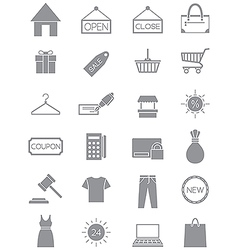 Gray shopping icons set vector image