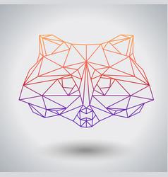 hipster polygonal animal raccoon triangle animal vector image