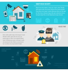 Home security banner set vector image