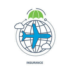 insurance services of travel vector image
