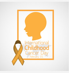 International childhood cancer day icon vector