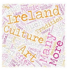 Ireland For Todays Tourist text background vector