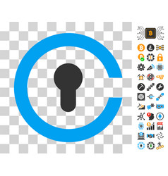 keyhole icon with bonus vector image