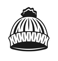 knitted hat of lumberjack black object vector image