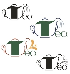 labels on the theme of tea vector image