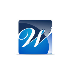 letter w logo design template vector image