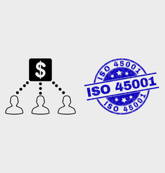 linear financial clients links icon and vector image
