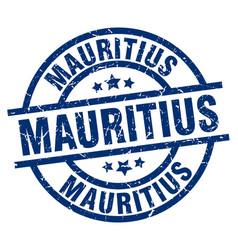 Mauritius blue round grunge stamp vector
