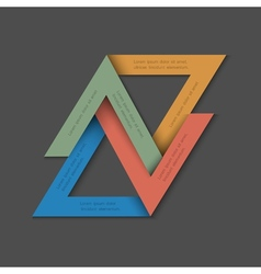 Minimalistic background with paper triangles vector