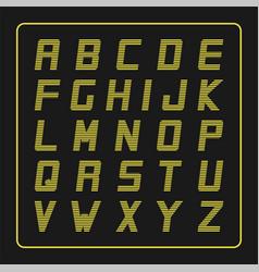 Modern striped font trendy english vector