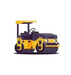 modern urban asphalt paver car at work in web site vector image