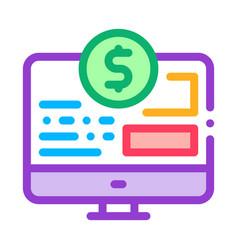 money web site icon outline vector image