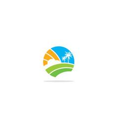 nature earth landscape logo vector image