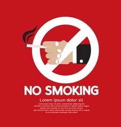 No Smoking EPS10 vector image