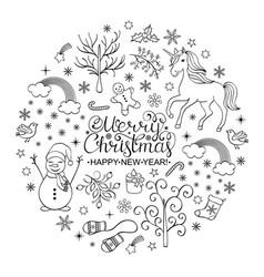 Positive christmas card vector