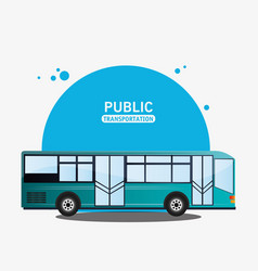 Public transport bus modern vector