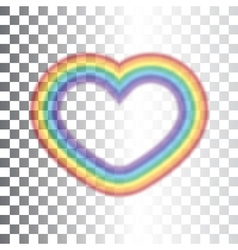 Rainbow icon heart transparent sign vector
