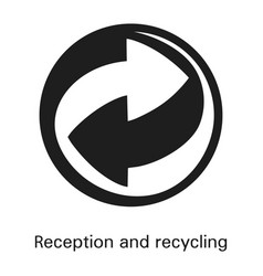 Reception and recycling icon simple style vector