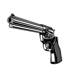 revolver in monochrome style design element vector image