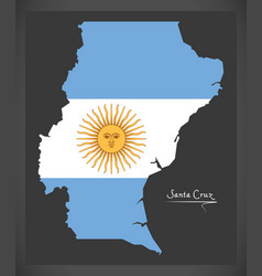 Santa cruz map of argentina with argentinian vector
