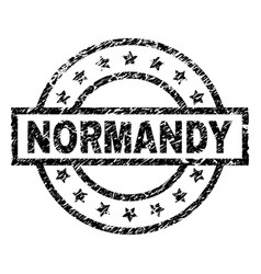 Scratched textured normandy stamp seal vector