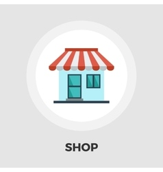 Store icon flat vector