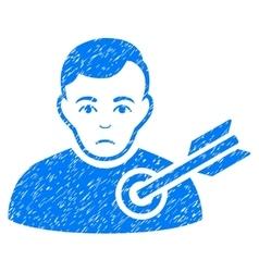 Target Man Grainy Texture Icon vector