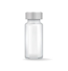 template medicinal mean in transparent flask vector image