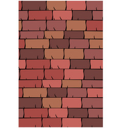 Texture of seamless red clay roof tiles slate vector
