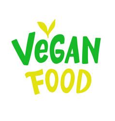 vegan food logo sign vector image