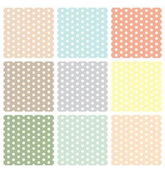 Vintage seamless polka dot patterns set vector