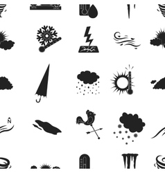 Weather pattern icons in black style Big vector