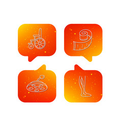 weight loss wheelchair and vein varicose icons vector image