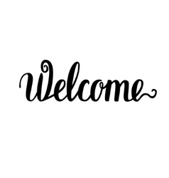 Welcome Brush lettering vector image