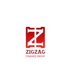 z letter icon for zigzag finance group vector image