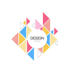 design logo template geometric elements for brand vector image vector image